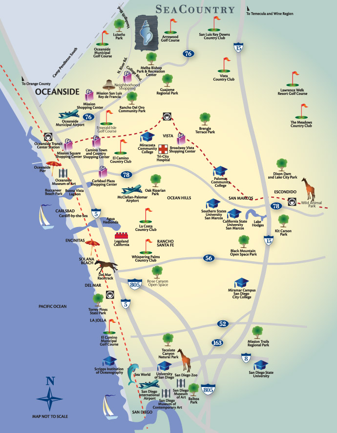 Explore Oceanside CA SeaCountry at Arrowood SeaCountry Homes
